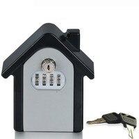 Storage Box Wall Mounted Combination Lock Box Key Safe Box Password & Key Lock Home Family Outdoor Safety Keys'