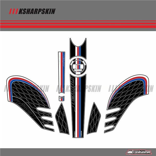 Plaque de numéros de carpe arrière moto | 3D protecteur de Gel, tampon de protection de réservoir, peinture de la Section du genou pour BMW R NINET