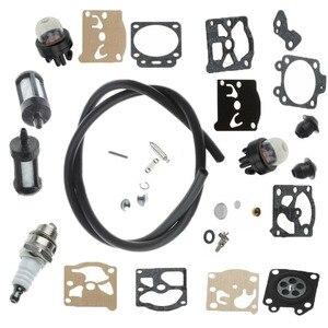 Carburador spark plug kit de reparo do filtro combustível para stihl fs44 fs36 fs40 repalce