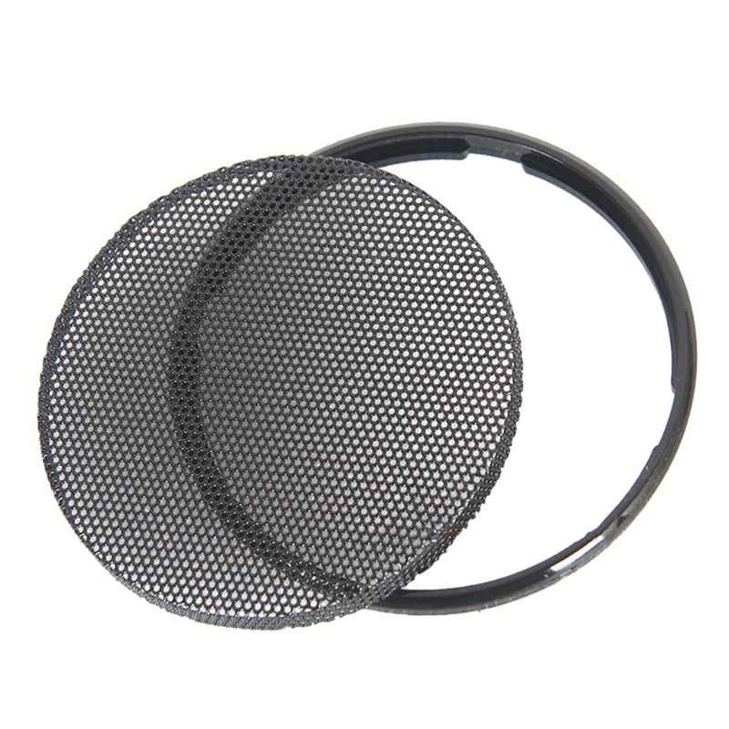 1/2/3/4/5/6 นิ้วลำโพงรถสีดำย่างตาข่ายรอบ Horn ป้องกันวงกลม Enclosure NET DIY อุปกรณ์ตกแต่ง