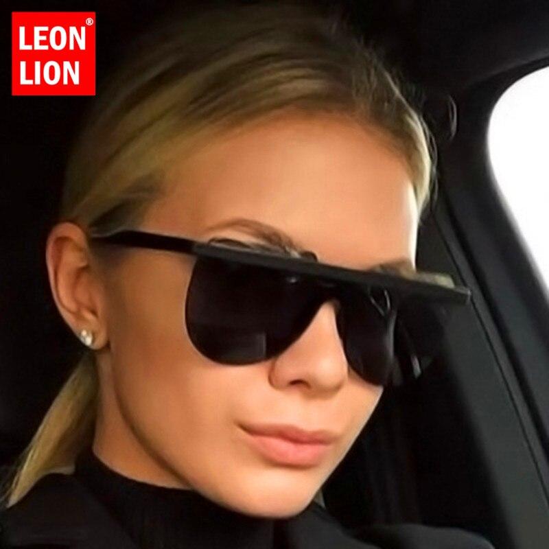 LeonLion Rimless Retro Sunglasses Women Vintage Glasses For Men/Women Luxury Sunglasses Women Oversized Oculos De Sol Feminino