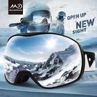 WILDMTAIN Snowboard Schnee Brille Anti fog Dual Schichten Ski Brille, 100% UV Schutz, outdoor Sport Jugend Männer Frauen Ski Brille