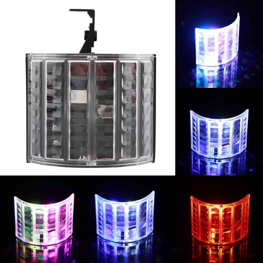 מקרן חג המולד Roatable LED RGB מיני מבוקר צבעוני שלב אור המפלגה DJ דיסקו מקרן כוכב חג המולד