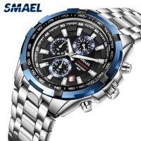 SMAEL Men's Quartz Watches Business Waterproof Date Clock Luminous Wrist Watch Luxury Casual Calendar Male Quartz Watch for Men