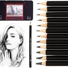 Drawing Sketch Pencil Set,  12 PCS Professional Sketching Pencils Artist Graphite Pencils for Artist,Beginner,Student,Kid,Teache