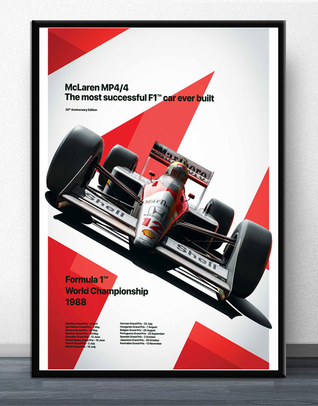 Ayrton Senna F1 Formula Mclaren World Champion Racing Car Posters Prints Wall Art Canvas Picture Painting For Living Room Decor