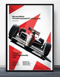 Ayrton Senna F1 Formula Mclaren World Champion Racing Car Posters Prints Wall Art Canvas Picture Painting For Living Room Decor(China)