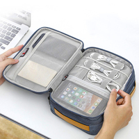 Travel Digital Storage Bag Multi function Cable Storage Bag Mobile Power Headset U Disk Data Organizer Electronic Accessories|Storage Boxes & Bins|Home & Garden -