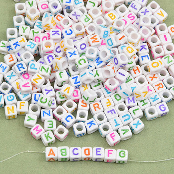 6*6 mm100 pcs Multiple Square Letter Beads Mixed Color Acrylic Beads DIY Woven Bracelet Necklace Handmade Educational Toys Gift free shipping 100 pcs mixed 7 colors square wood beads letter a z cube sewing scrapbooking crafts handmade 1 hole wooden button