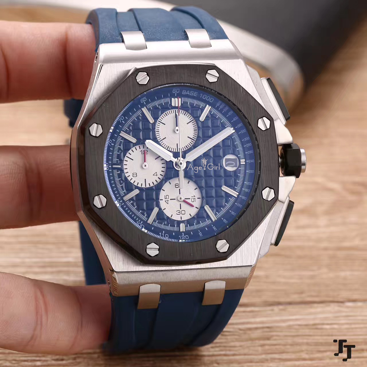 Luxury Brand New Chronograph Men Watch Stopwatch Lebron James Sapphire Watches Silver Black Blue White Rubber Sport Limited AAA+