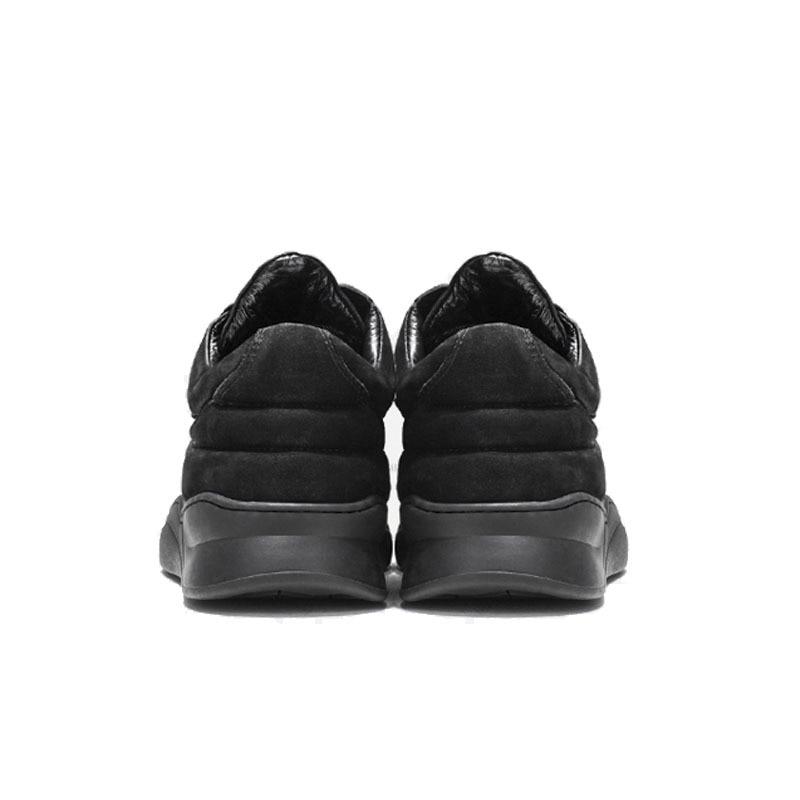Designer Koe Suede Hollow Out Casual Schoenen Mannen Hoge Top Dikke Platform Skateboard Sapato Masculino Merk Sneakers Mannen Schoeisel - 4