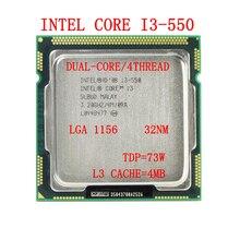 Original Intel Core i3 550 Processor 3.2GHz 4MB Cache LGA1156 Desktop CPU DIY Computer Accessories
