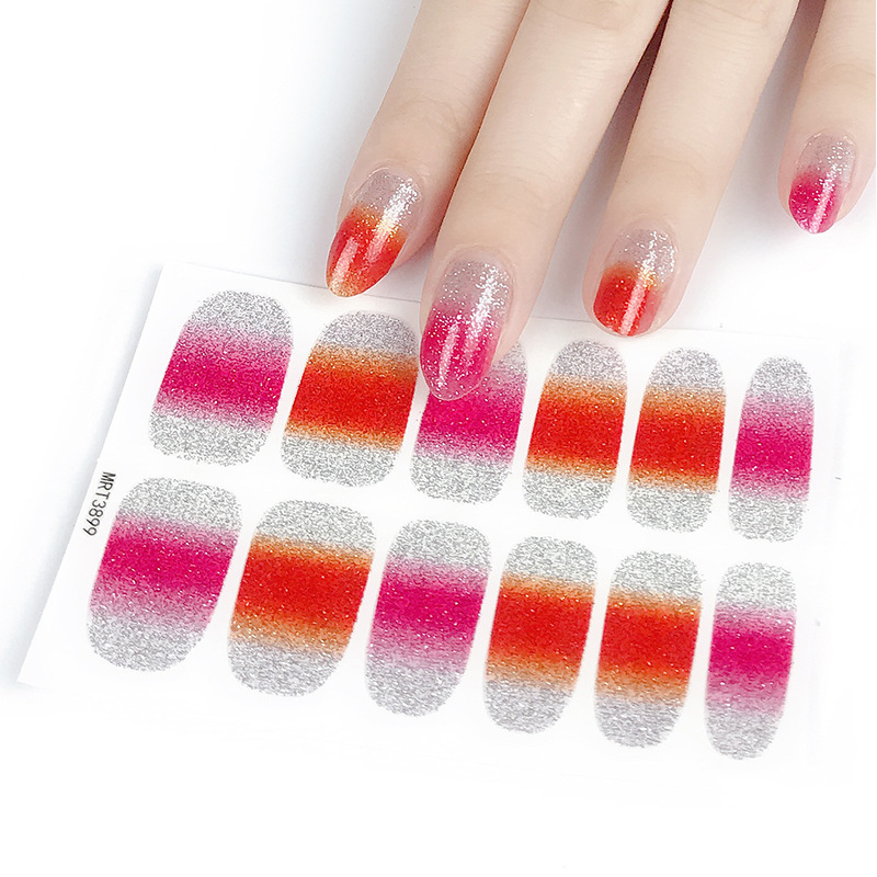 Manicure Stickers 12 Refers To Color Gradient Nail Sticker Onion Powder Gradient Nail Sticker Manicure Stick Completely