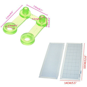 Folhas 10 24 Ponto Cartão Soco + 4 Clips Para Máquinas De Tricô Irmão Kh860 Kh260 Cartões Perfurados Diy Camisola Mão artesanato Acessório