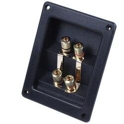 Bi amp głośnik Terminal Cup skrzynka przyłączowa złoty zacisk bananowy w Złącza od Lampy i oświetlenie na