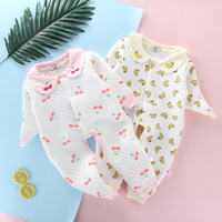 2019 Autumn And Winter New Style Newborn Baby Romper Cartoon Long Sleeve Padded Warm Onesie BABY'S FIRST Month Romper Crawling C