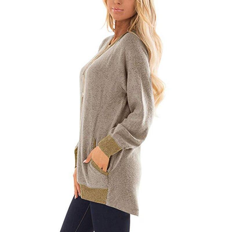 2019 New Women Autumn Sweatshirt Long Sleeve Solid Hooded Pullover Tops Casual Loose Jumper Hoodies 2XL in Hoodies amp Sweatshirts from Women 39 s Clothing