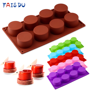 Silicone Pudding Mold Cake Pastry Baking Round Jelly Gummy Soap Mini Muffin Mousse Cake Decoration Tools Bread Biscuit Mould