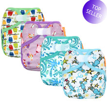 Cover Insert Baby-Cloth-Diaper Happy-Flute Bamboo Cotton Adjustable Waterproof with Or