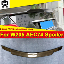 W205 2-doors Tail Spoiler Wing FRP Unpainted C74 Style Fits For MercedesMB C-Class C180 C230 C250 C63 Rear Trunk Spioler 2015-18