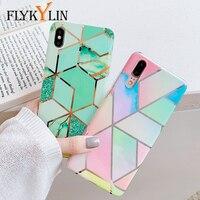Funda FLYKYLIN para Huawei P30 Pro P20 Lite Mate 20 Nova 3e 4e cubierta rosa azul mármol empalme de teléfono funda de silicona IMD