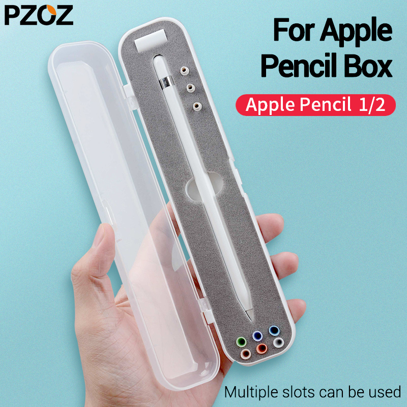 PZOZ Pencil Holder Case For Apple Pencil Storage Box Portable Hard Cover Portable Case Airpods Air Pods Apple Pencil Accessories