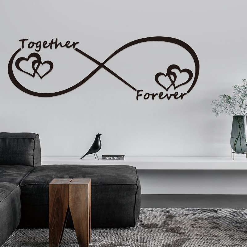 Diy Love Together Forever Infinity Symbol Love Word Wall Art Sticker Wall Decor Decals For Bedroom Living Room House Decoration Wall Stickers Aliexpress