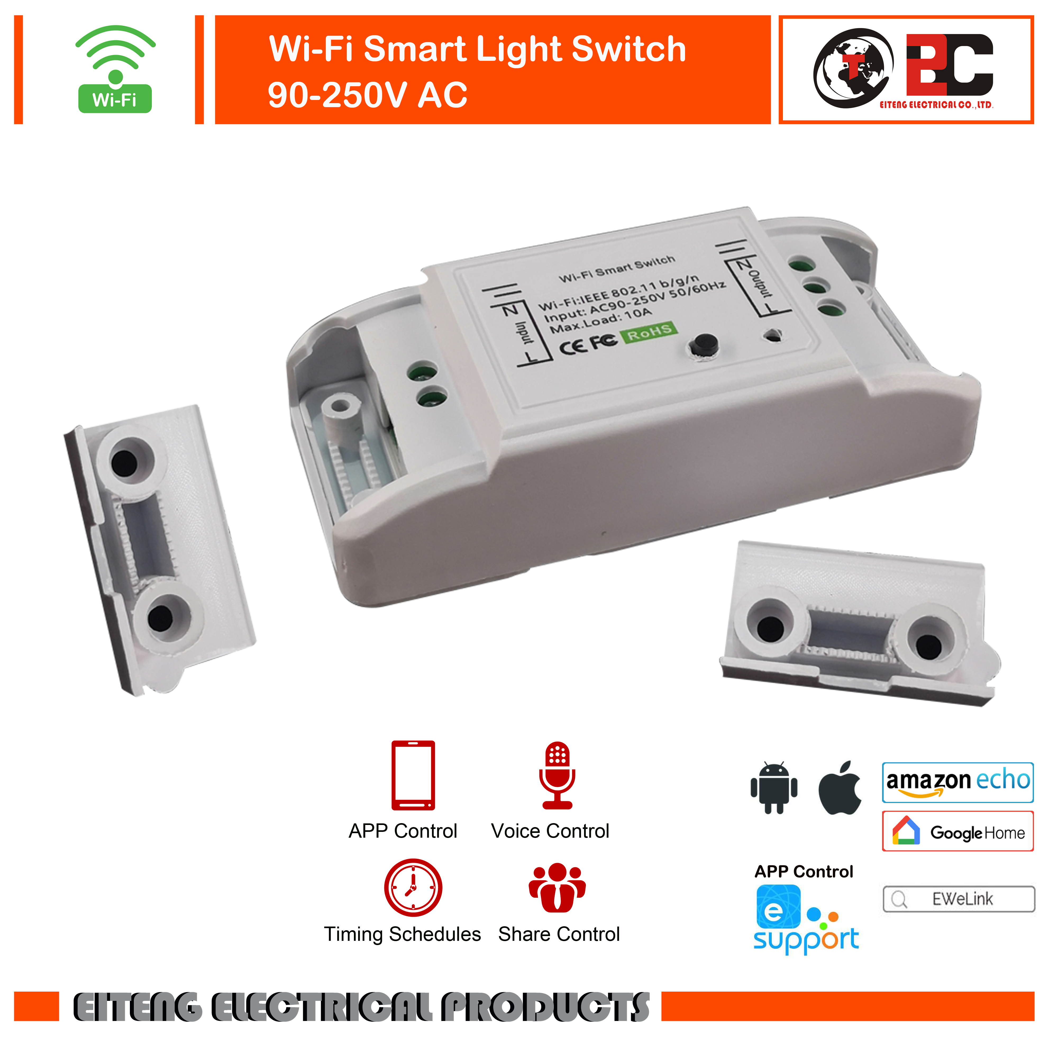 DIY WiFi Smart Light Switch Universal Breaker Timer Smart Life APP Wireless Remote Control Works With Google Home  Alexa