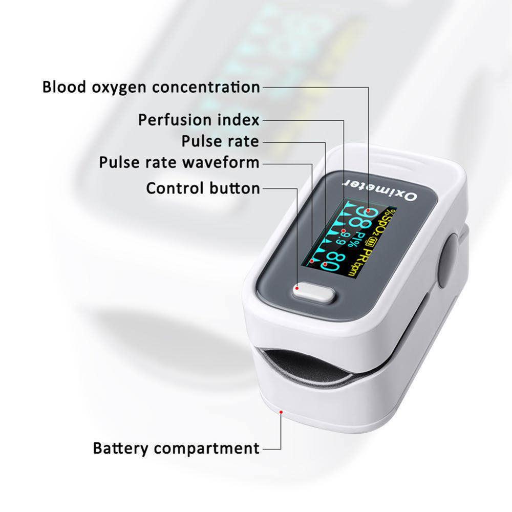 Portable Finger Pulse Digital OLED Oximeter Blood Oxygen Saturation meter Fingertip Pulsoximeter SPO2 Monitor