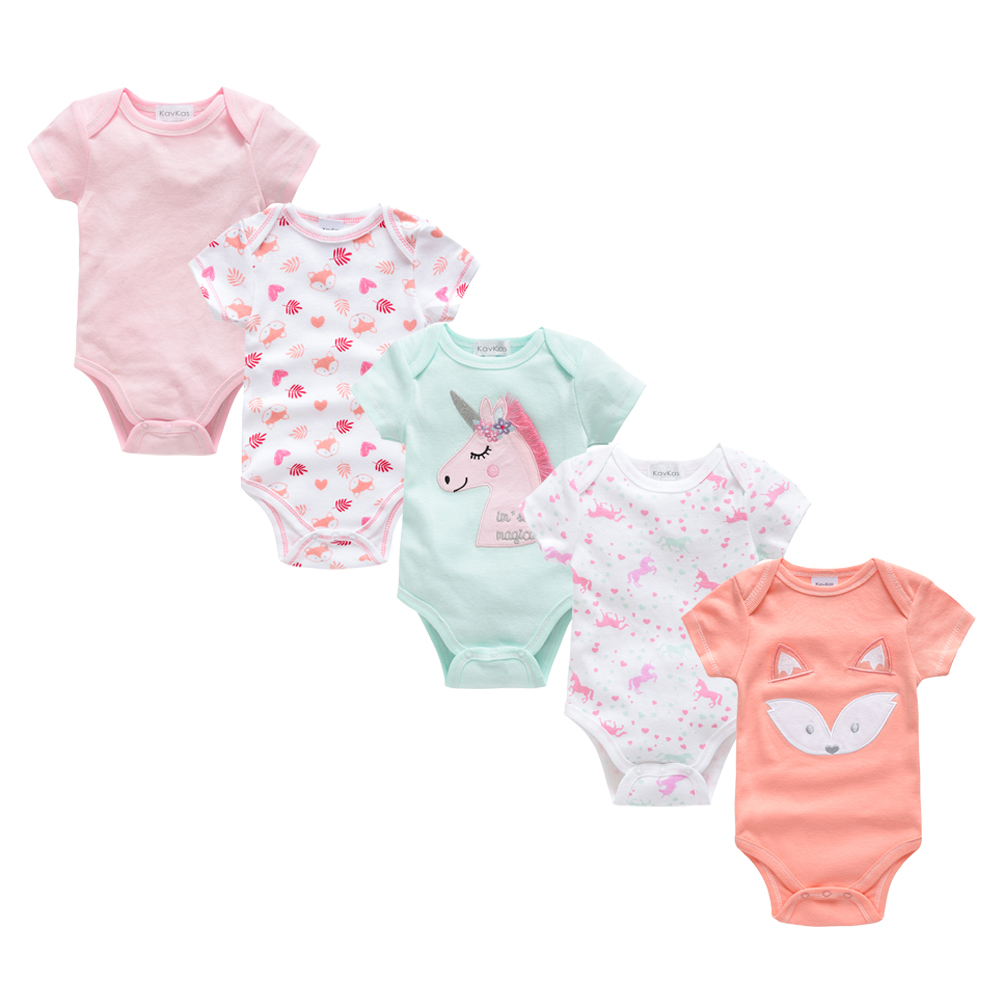 2019 New Baby Bodysuit Cotton Pyjamas Bebe Newborn Baby Girl Clothes Set Body Bebes Short Sleeve Roupa De Bebe Baby Boy Clothing