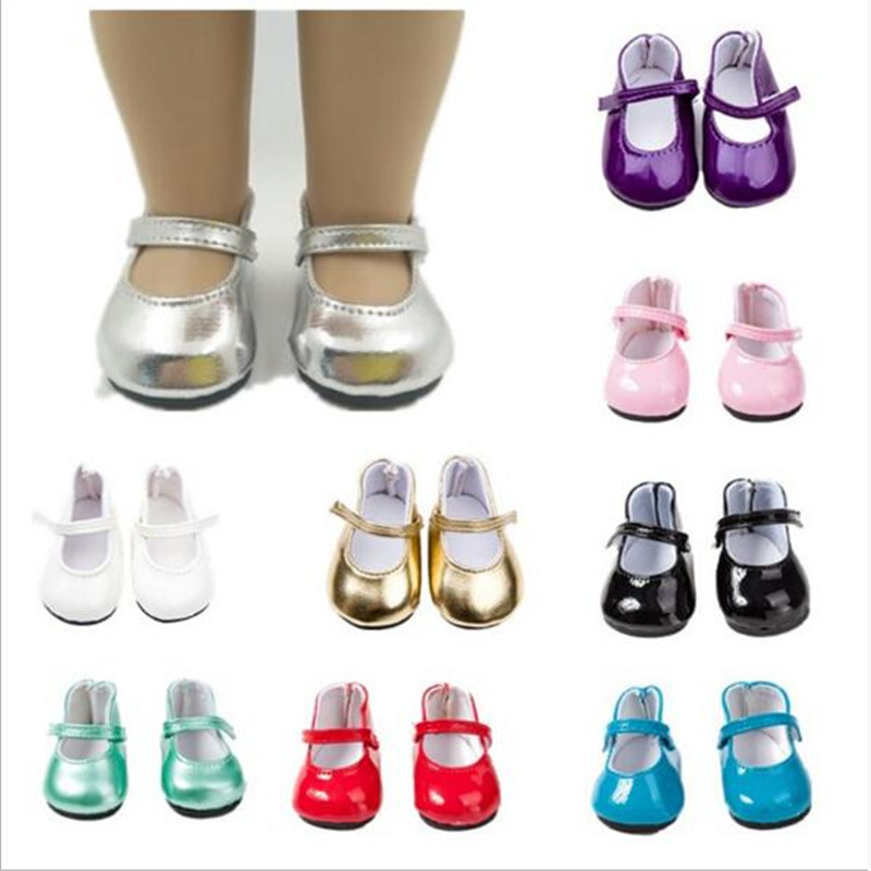 Fit 18 Inch 43cm Born New Baby Doll Shoes Accessories Shoelaces Boots White Red And Blue Black Shoes Suit For Baby Birthday Gift
