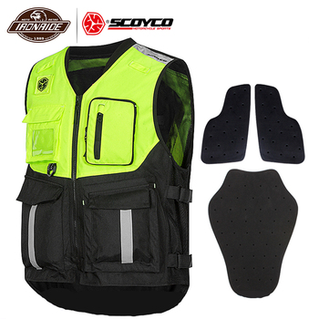 цена на SCOYCO Summer Motorcycle Jacket Reflective Vest Motocross Protective Waistcoat Mesh Moto Vest Off-Road Racing Riding Vest