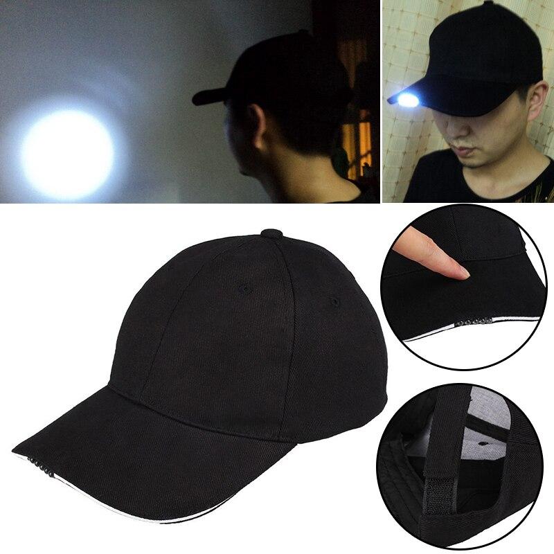 Camping Led Baseball Hat Cap Lighted 5 Fishing Unisex Gifts Halloween Fashion Luminous Hat