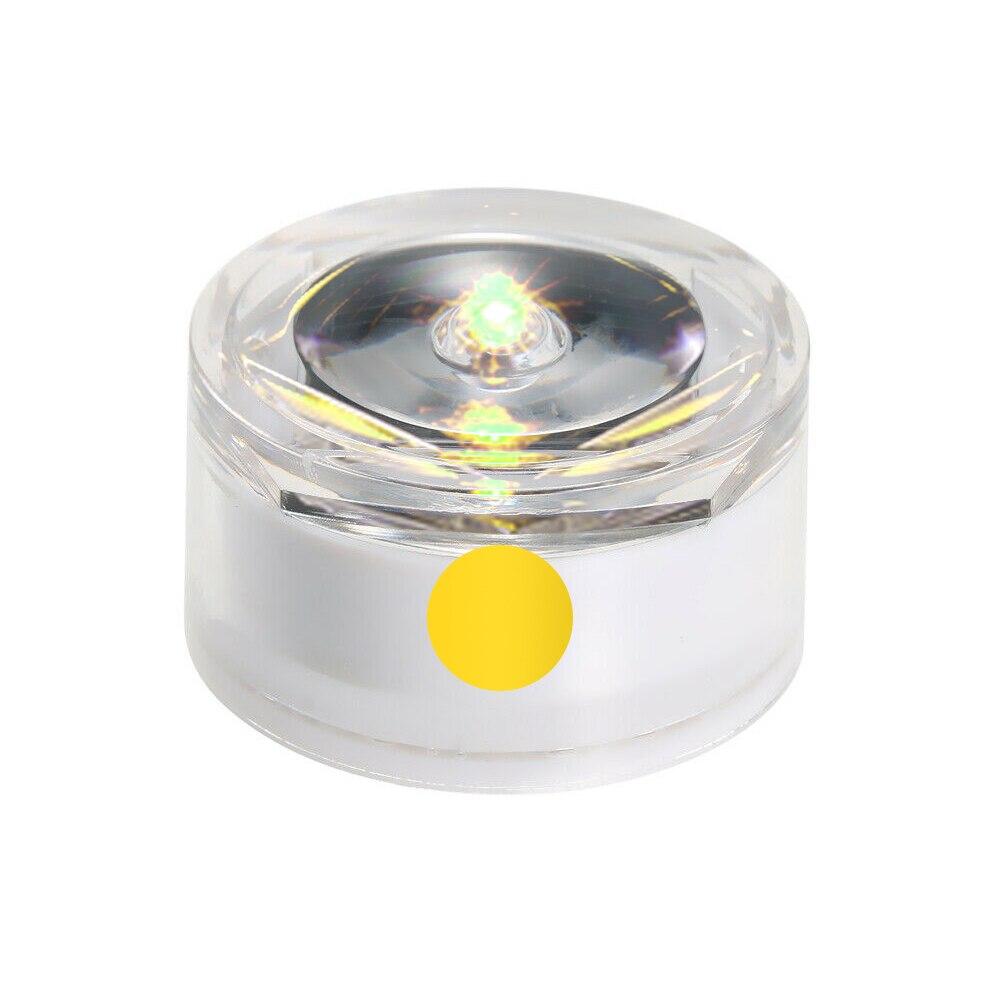 Солнечная Светодиодная лампа для подземного освещения, открытый наземный садовый троп, Напольный Пол, точечный пейзаж, зарытый свет IP67, водонепроницаемый - Испускаемый цвет: yellow