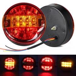 1PC LED Rear Tail Light Turn Signal Lamp Round Hamburger indicator brake lights For Lorry Truck Car Van Trailer ATV Boat 12V 24V