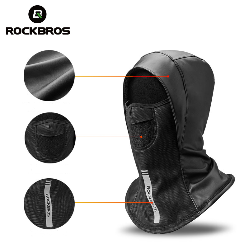 Image 3 - ROCKBROS Winter Cycling Cap Fleece Thermal Keep Warm Windproof Cycling Face Mask Balaclava Skiing Fishing Skating Hat Headwear-in Cycling Face Mask from Sports & Entertainment
