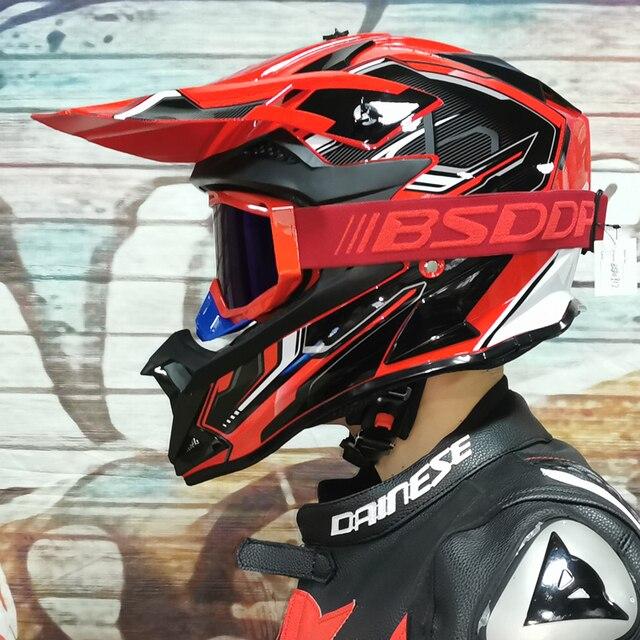Motosiklet yetişkin motocross Off Road kask ATV kir bisiklet yokuş aşağı MTB yarış kask çapraz kask capacetes