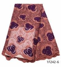 การออกแบบล่าสุดแอฟริกันลูกไม้ผ้าปักไนจีเรีย Laces ผ้าคุณภาพสูงภาษาฝรั่งเศสคำผ้าลูกไม้ Tulle ผ้าสำหรับสตรี 1F242