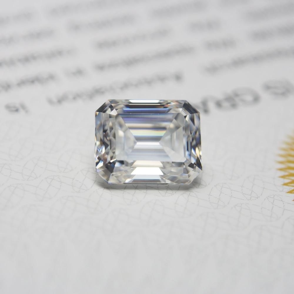 3*5 mm Emerald Cut 0.32 carat White VVS1 D Lab Created diamond Moissanite Stone Loose Moissanite Diamond ring jewelry