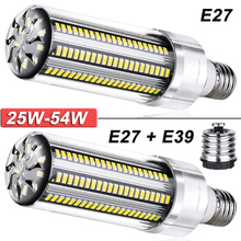 25W-54W Super Bright Corn LED Light Bulb With Fan LED Bulb Warm White White Light for Home and Large Area Ceiling Lighting D30
