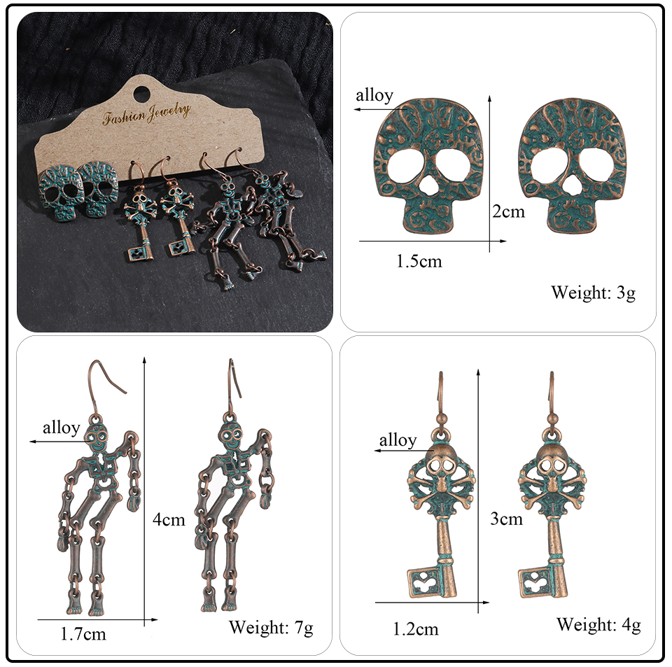Bohemian Bronze Big Flowers Drop Earrings for Women 10 Style Vintage Leaf Metal Tassel Fringe Hanging Earring Females Jewelry (2)