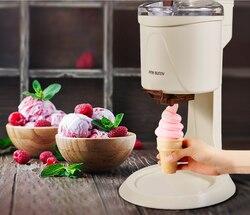 Rosa coelho máquina de sorvete totalmente automático mini frutas fabricante de sorvete para casa elétrica diy cozinha maquina sorvete para crianças