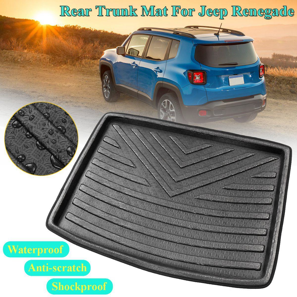 Brand New Car Boot Cargo Liner Tray Rear Trunk Floor Mat Waterproof For Jeep Renegade 2014 2015 2016 2017 2018 Anti slip 1piece|  - title=