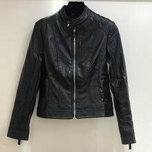 Осень 2020 модная Новая женская куртка европейская кожаная очищающая