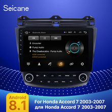 Seicane 10.1 Android 9.1 2Din Quad Core Car Radio GPS Multimedia Player Head Unit For Honda Accord 7 2003 2004 2005 2006 2007