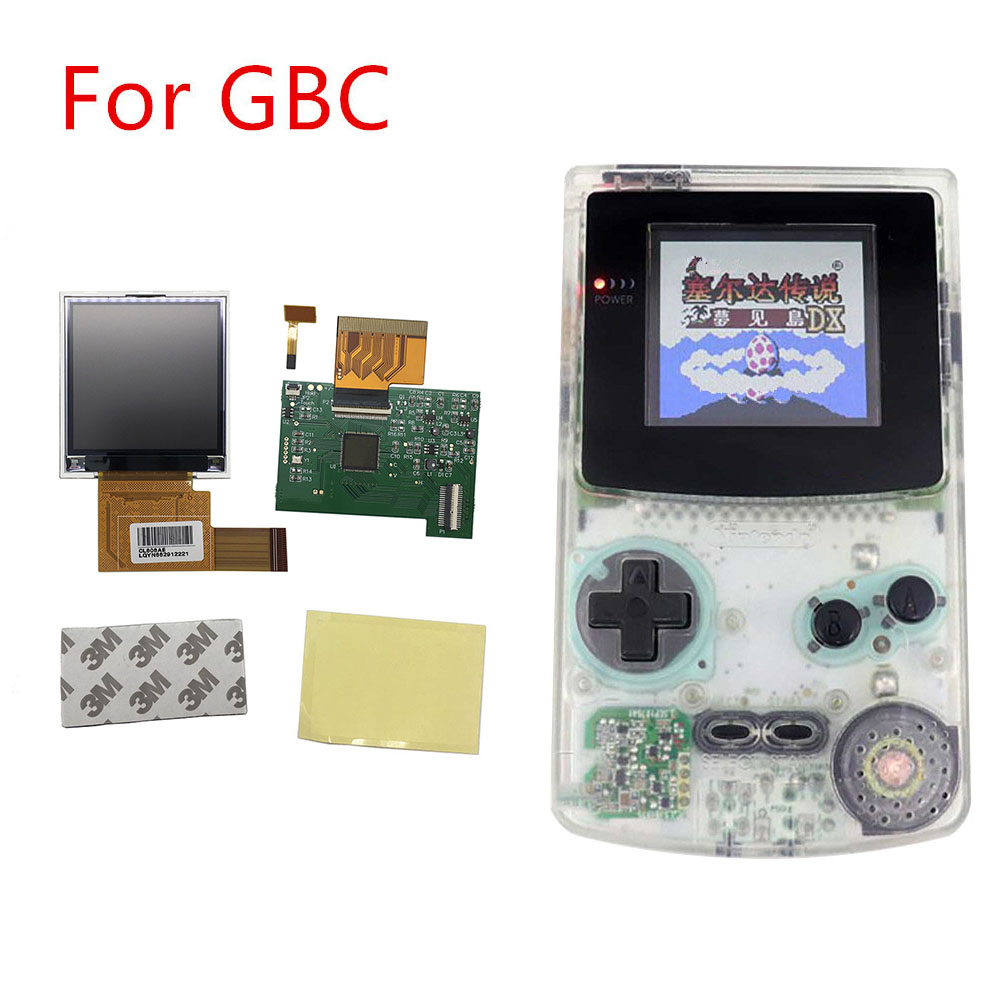 New GBC IPS LCD Screen Backlight Modification Kit For Gameboy Color Light Ips LCD Screen Kit For GBC With Glass Lens Accessories