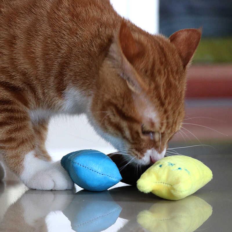 재미 있은 대화 형 멋진 애완 동물 고양이 치아 Catnip 장난감 발톱 연삭 엄지 손가락 물린 고양이 민트 새끼 고양이 재생 베개 용품 Scratcher