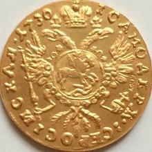 24K позолоченная 1730 русская Золотая копия монет