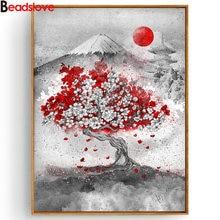 Алмазная картина с японскими чернилами алмазная вышивка крестиком