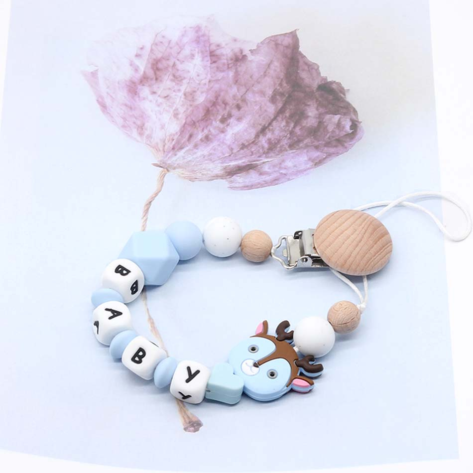 Personalised Baby Dummy Clip